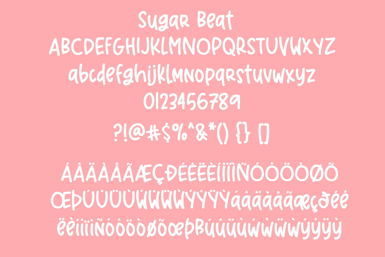Sugar Beat Handwritten Font example image 3