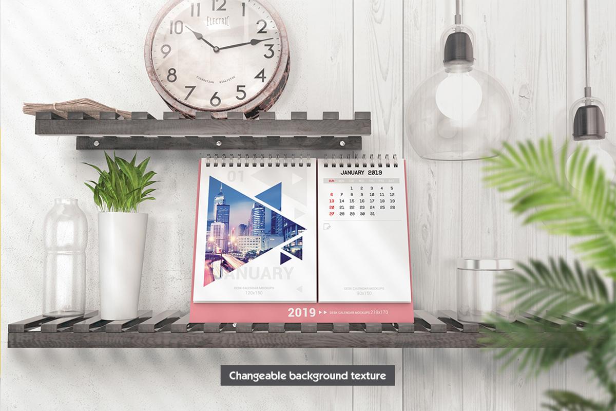 Various Desktop Calendars Mockup example image 2