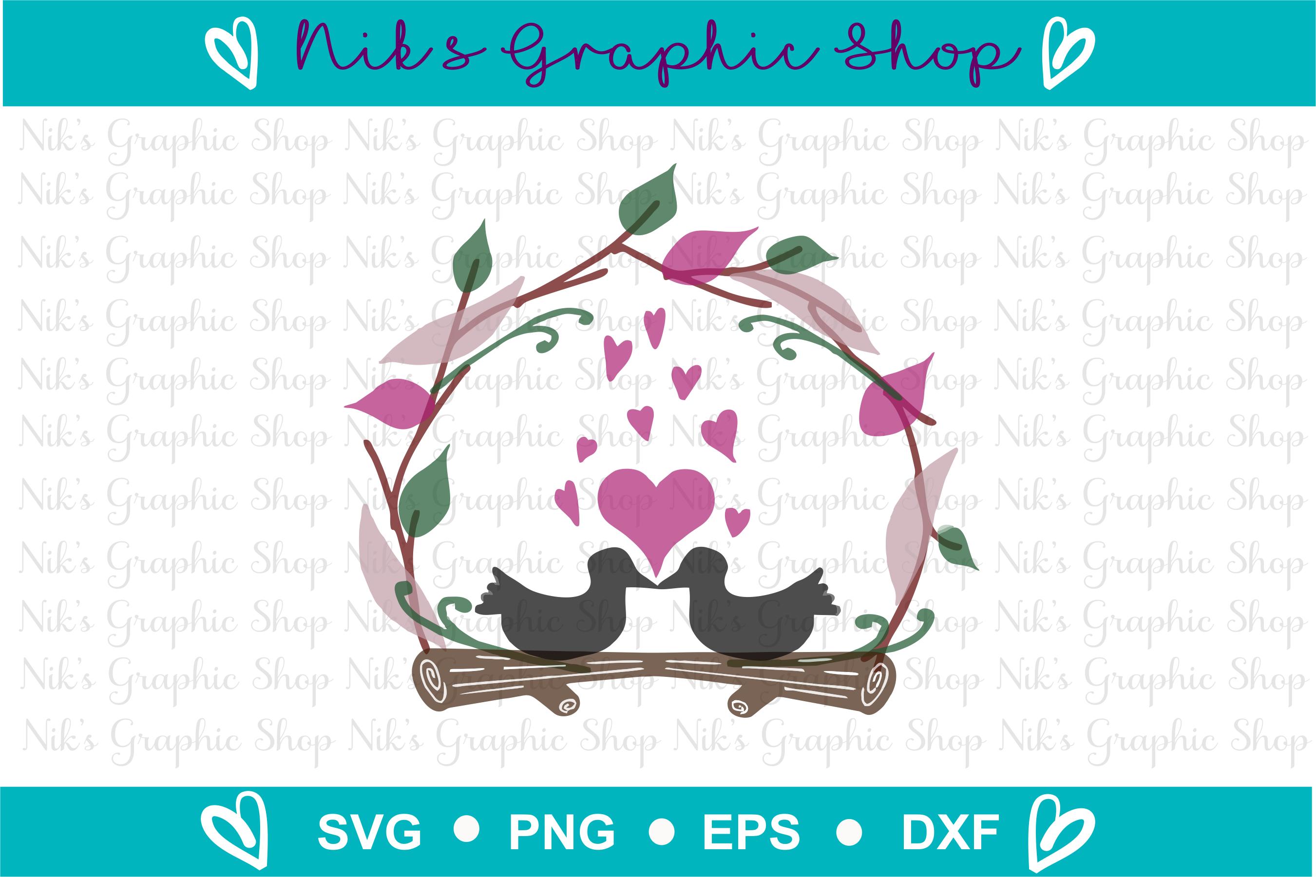 Love Birds SVG, Love birds, Valentines SVG, Wedding SVG example image 2