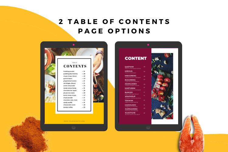 Food Lovers Recipe and Cookbook Canva Template Ebook example image 5
