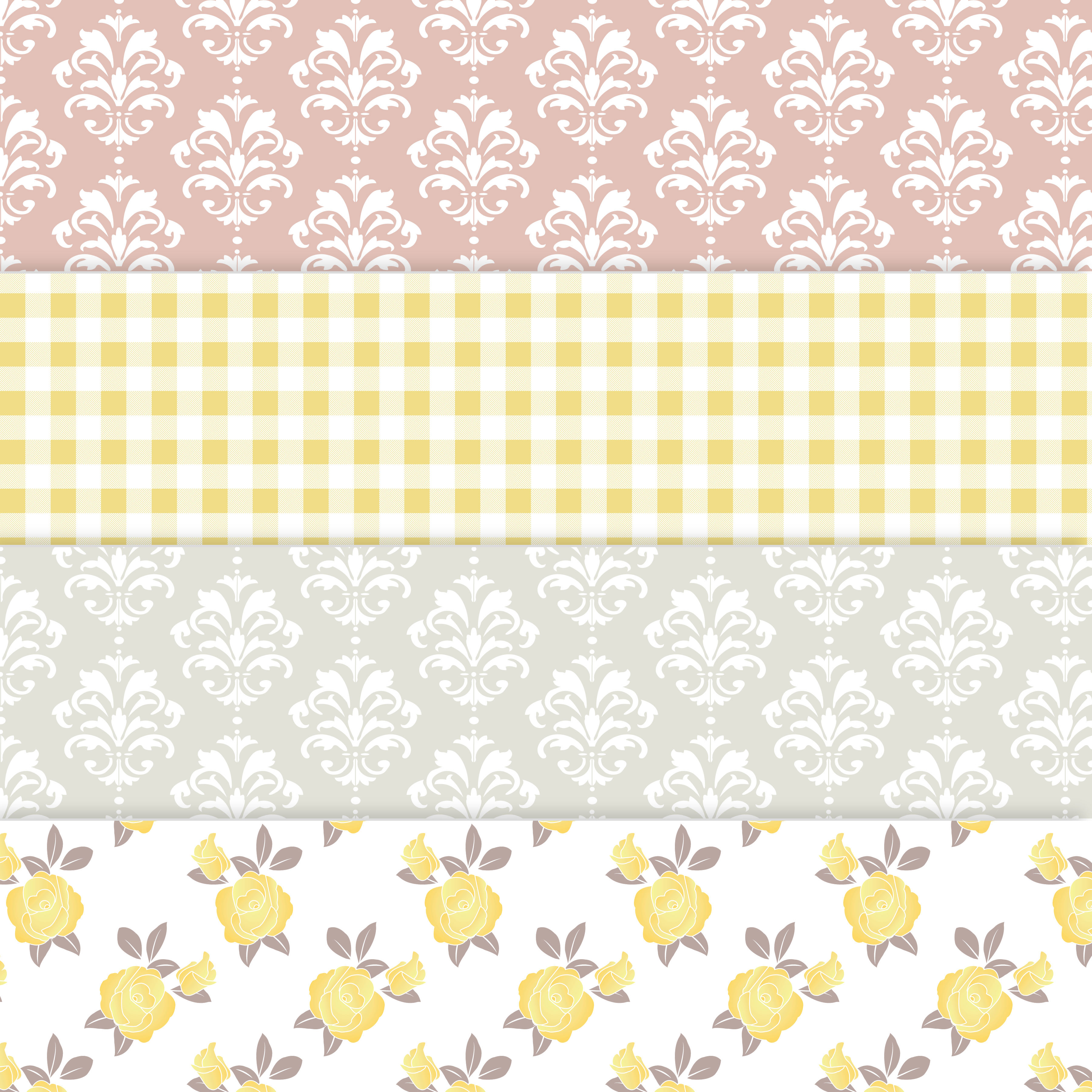 Floral Shabby Chic Digital Paper example image 3