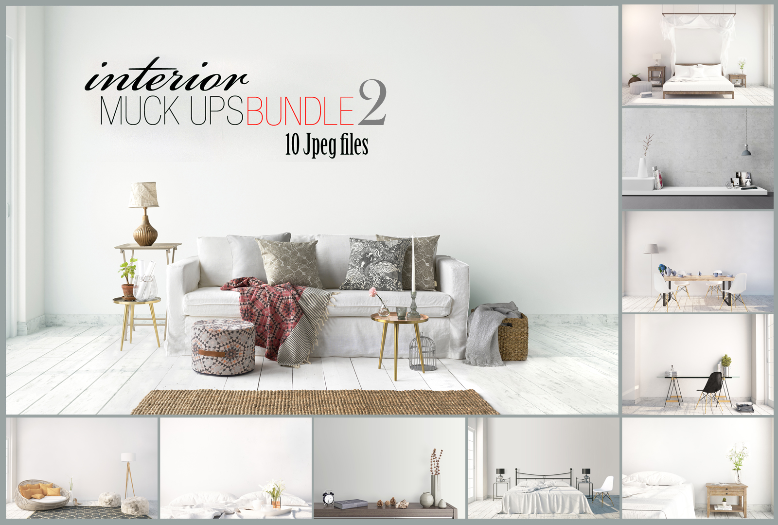 interior mockups bundle, stock photo example image 1