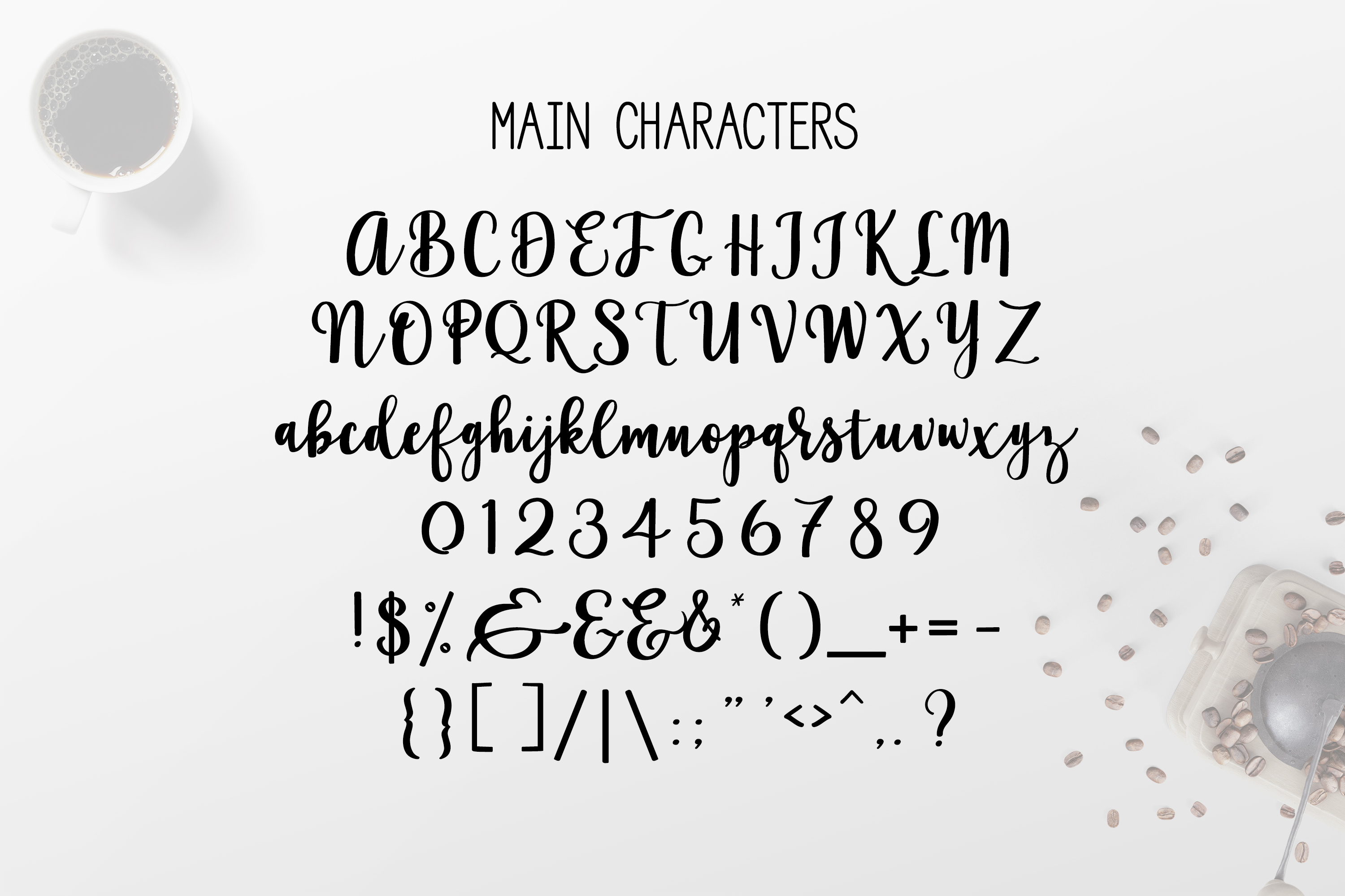 Coffee Shop Script a cursive brush font with lots of extras example image 3