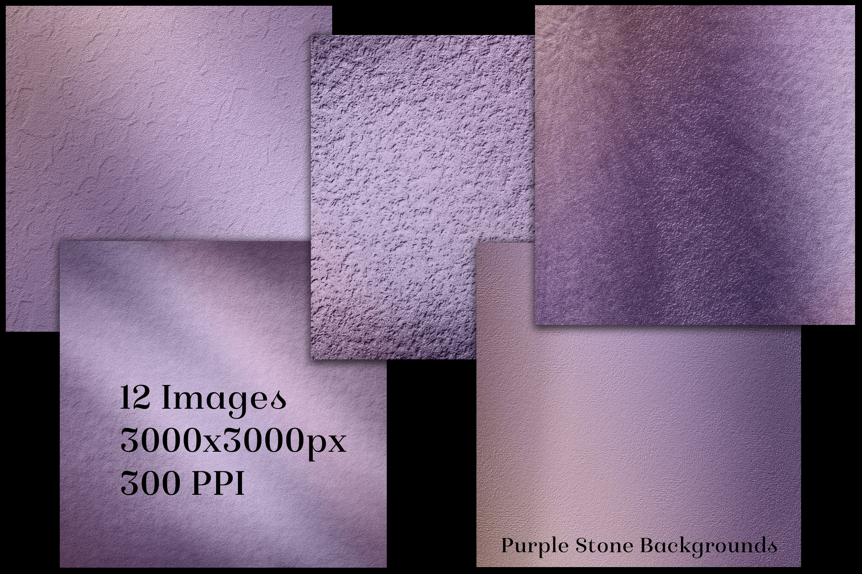 Purple Stone Backgrounds - 12 Image Textures Set example image 2