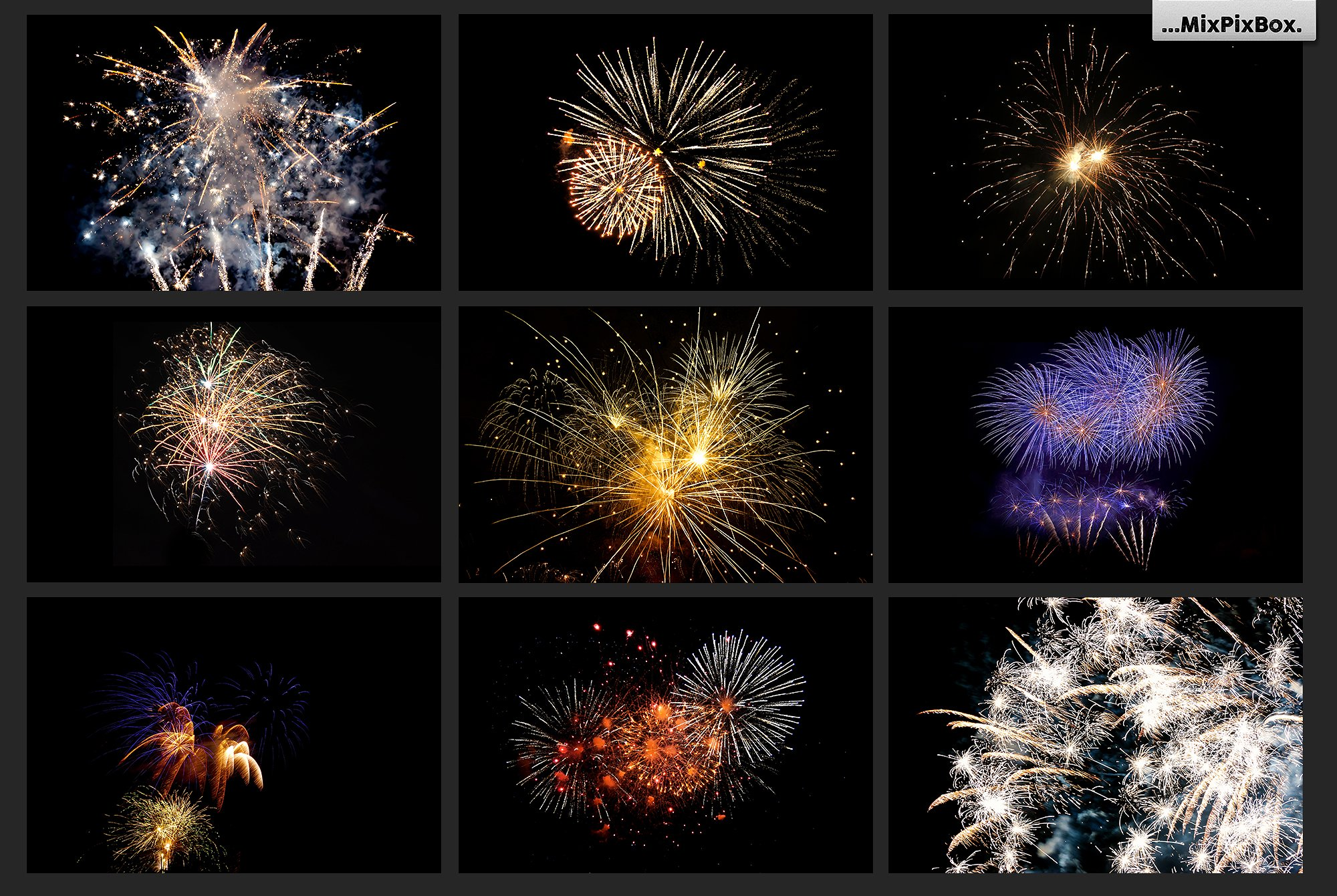 100 Fireworks Overlays example image 15