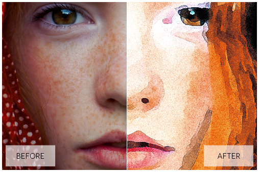 Lovely Watercolor Effect | Photoshop Actions example image 35