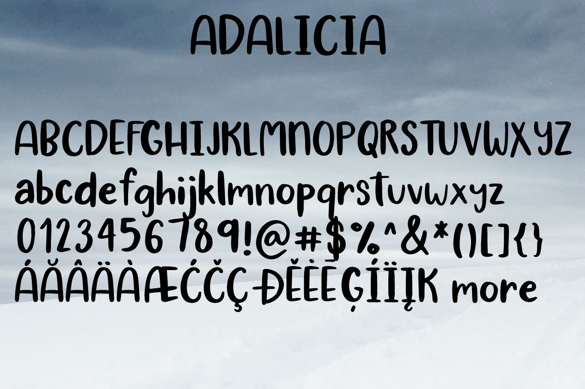 ADALICIA | HAND DRAWN FONT DUO example image 9