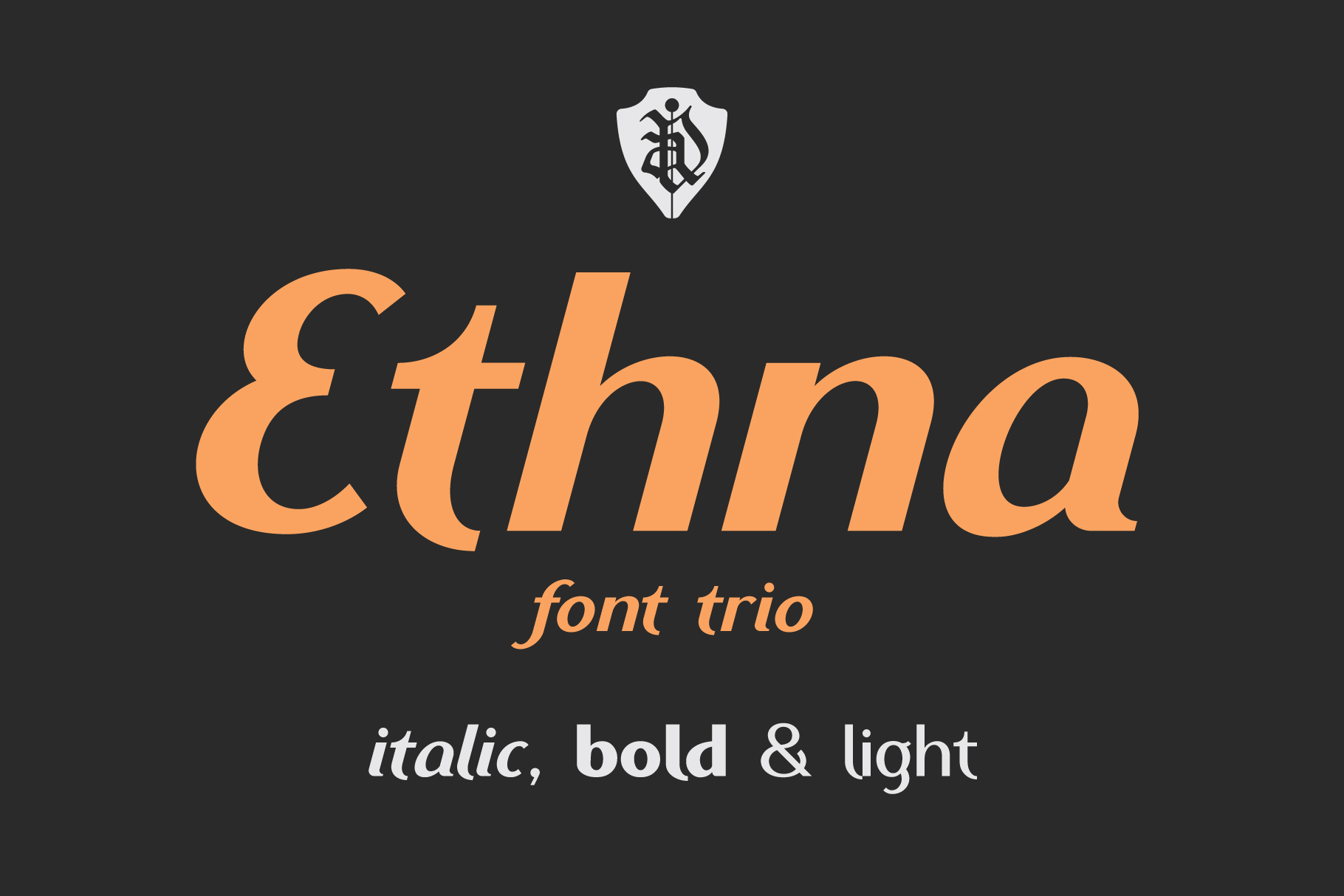 Ethna font trio example image 1