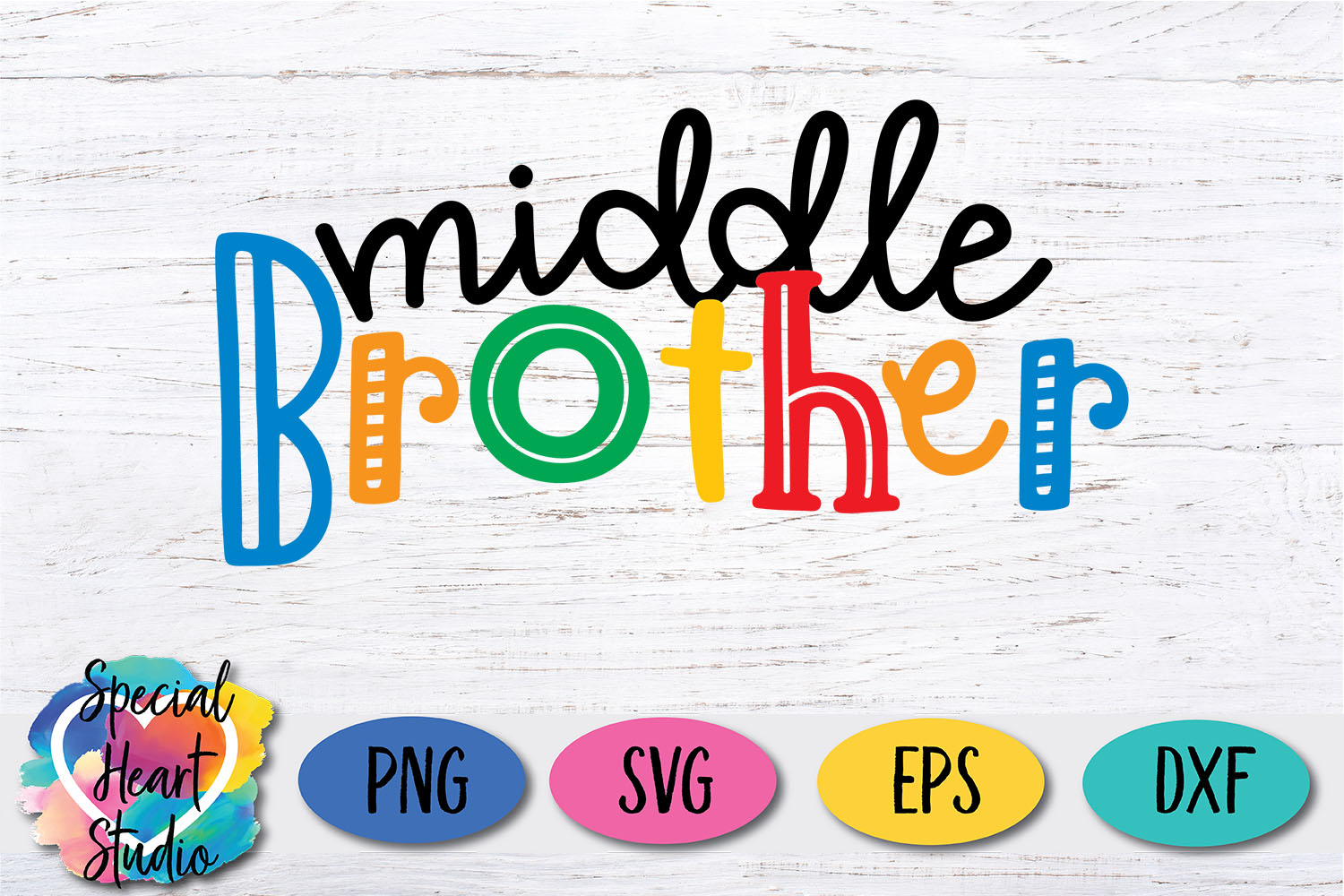 Middle Brother - A family and sibling SVG example image 2