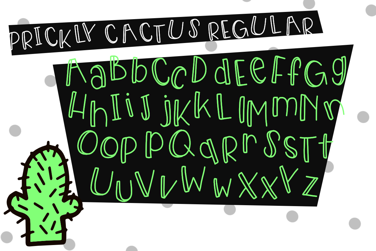 Prickly Cactus Font Duo Free Doodle Pack example image 6