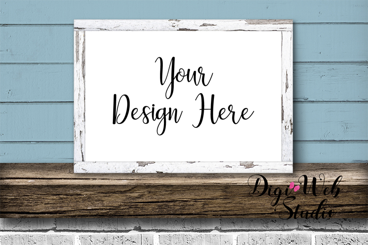 Mockup Bundle - Butterfly Cottage Wood Signs, Pillow & Mug example image 5