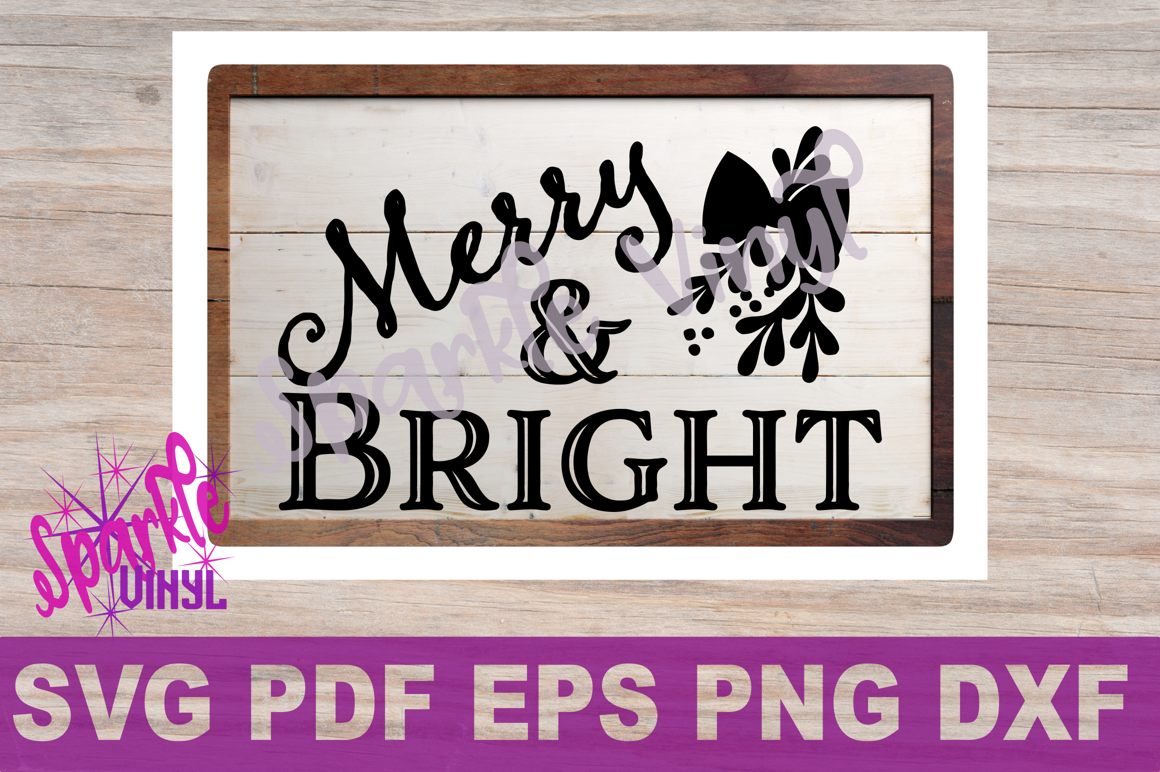 SVG Christmas Merry and Bright Sign Stencil Shirt Tshirt outfit svg file for circut and silhouette dxf eps png pdf  Christmas printable example image 5