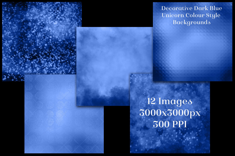 Decorative Dark Blue Unicorn Style Backgrounds Textures example image 2