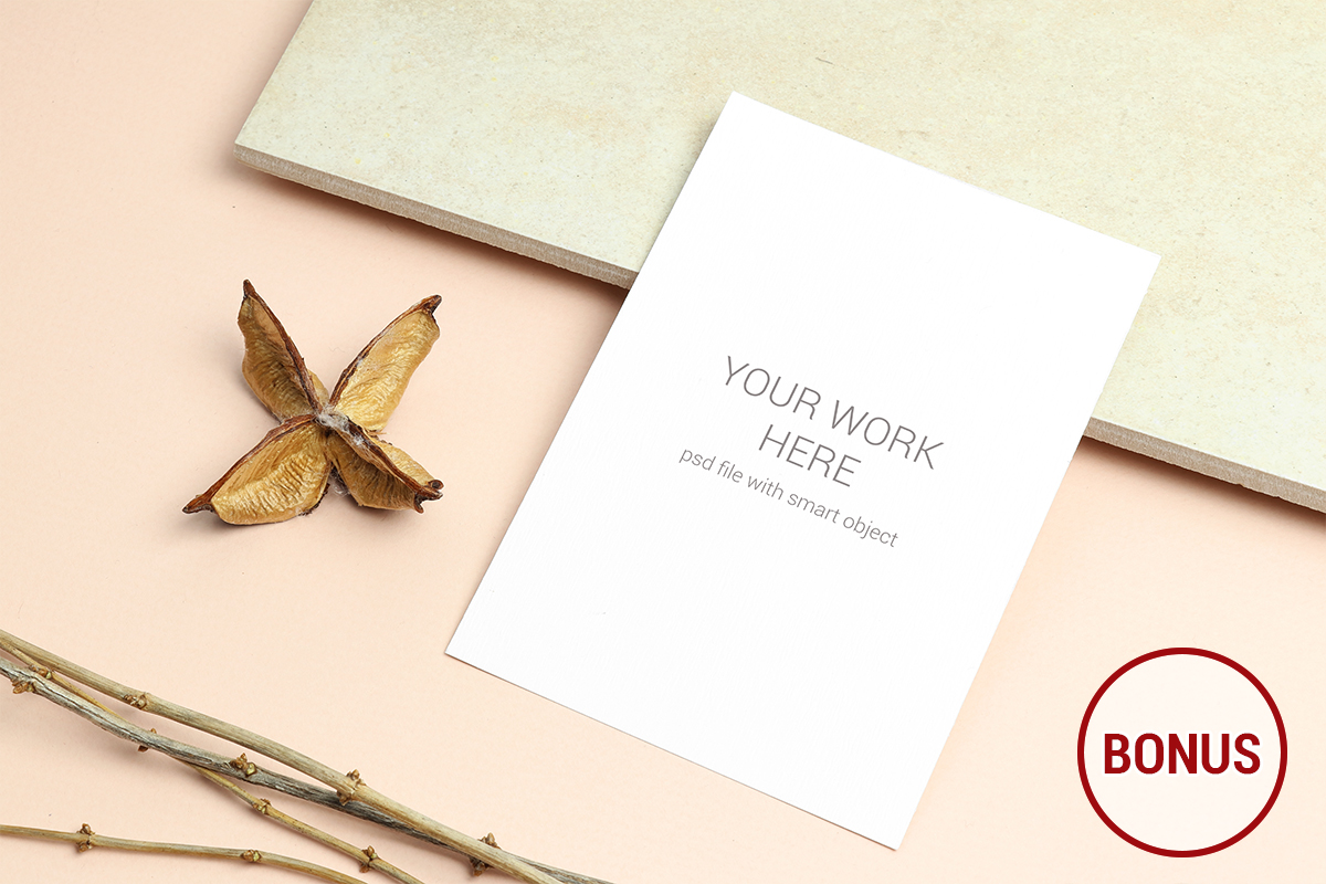 Invitation Card Mockups With Branches example image 11