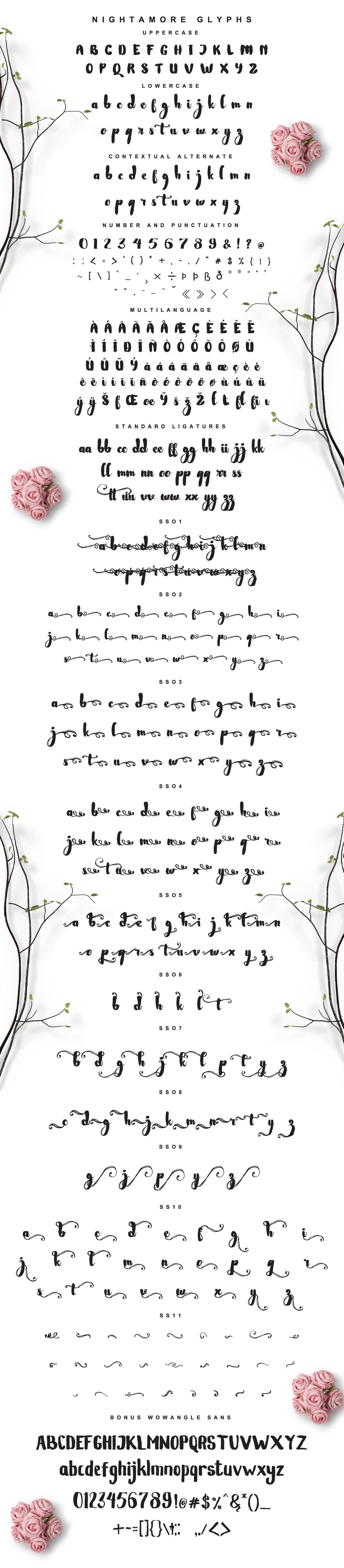 Nightamore Brush Calligraphy (Bonus Font) example image 10