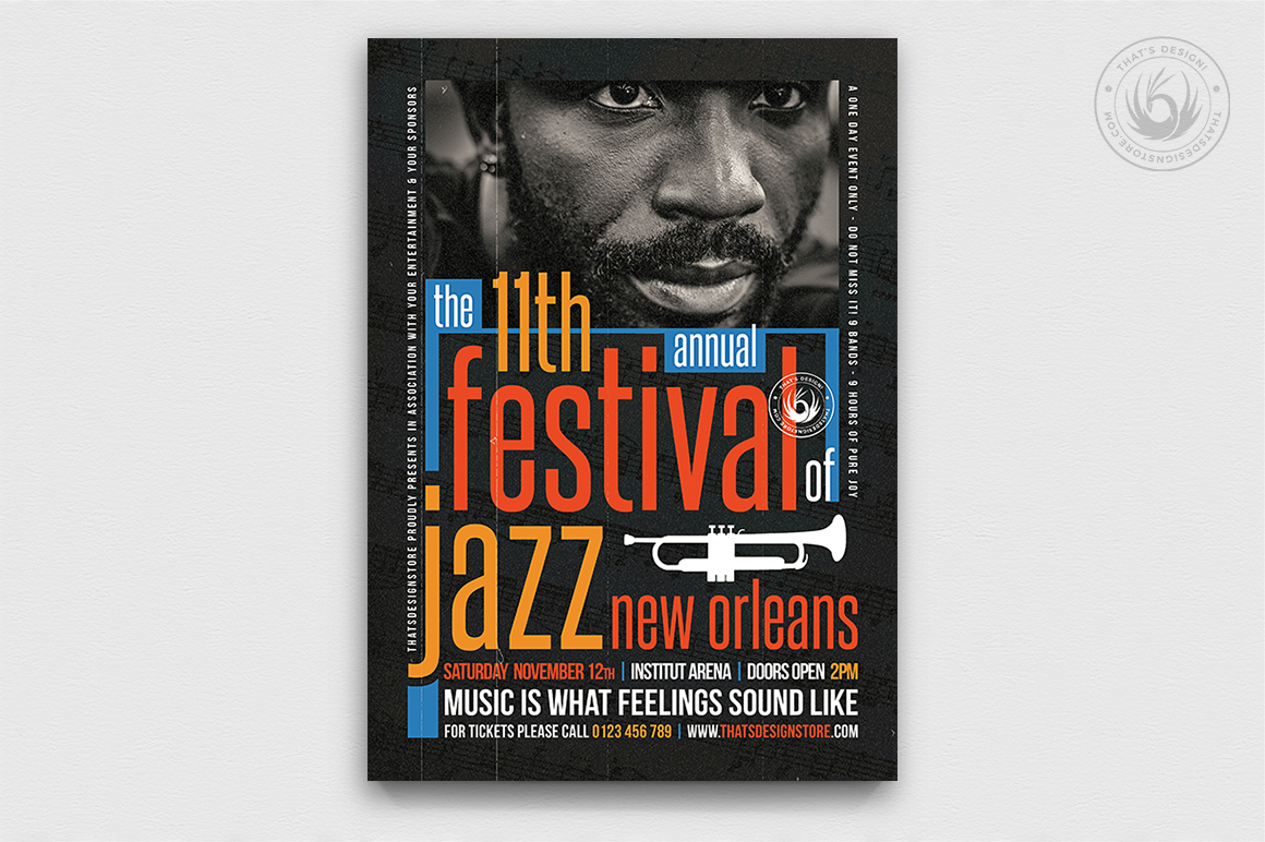 10 Jazz Festival Flyer Bundle example image 11