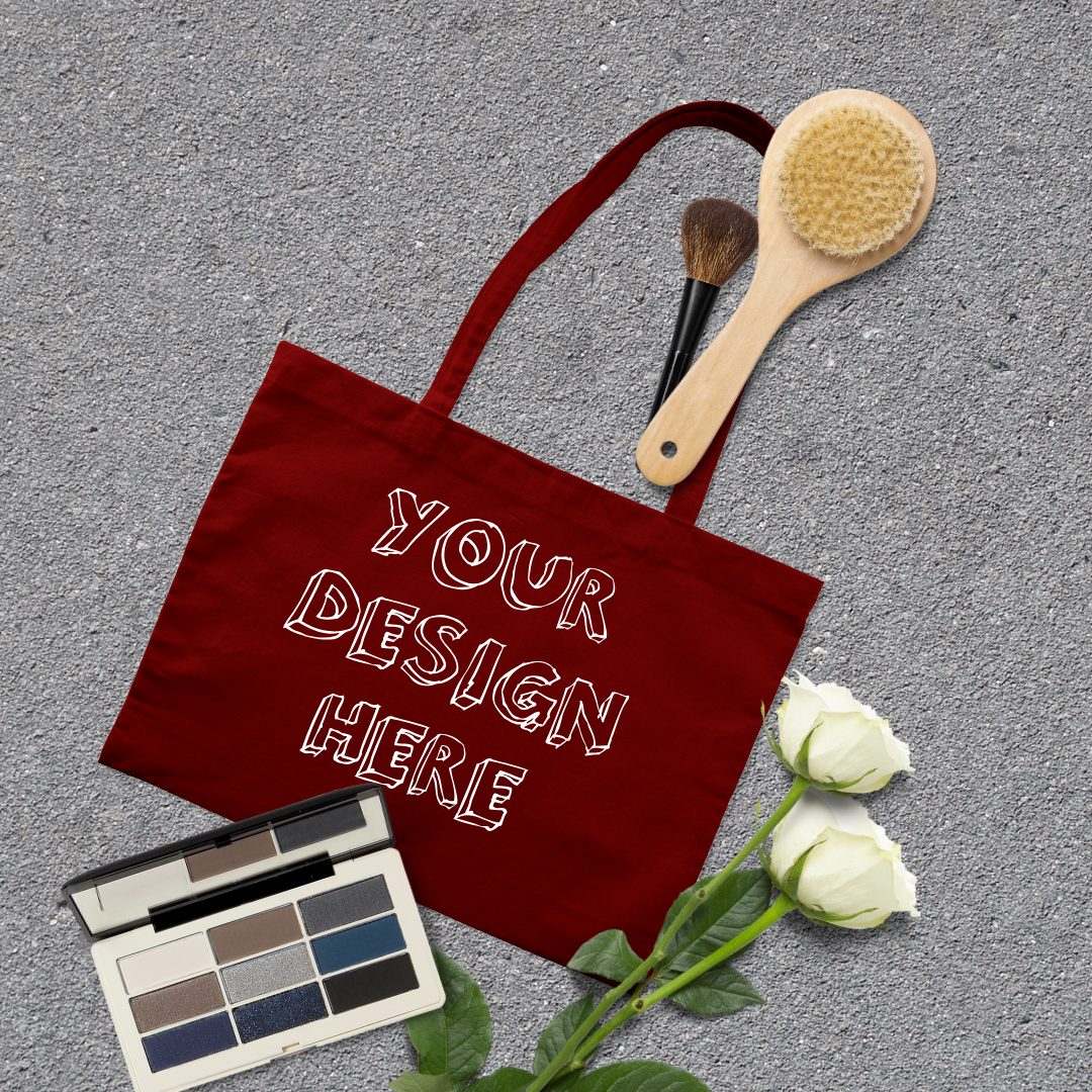 MEGA Bundle|Tote Bag Mockups with White Roses & Makeup Brush example image 12