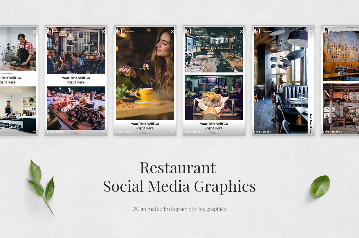 Restaurant Animated Instagram Stories example image 2