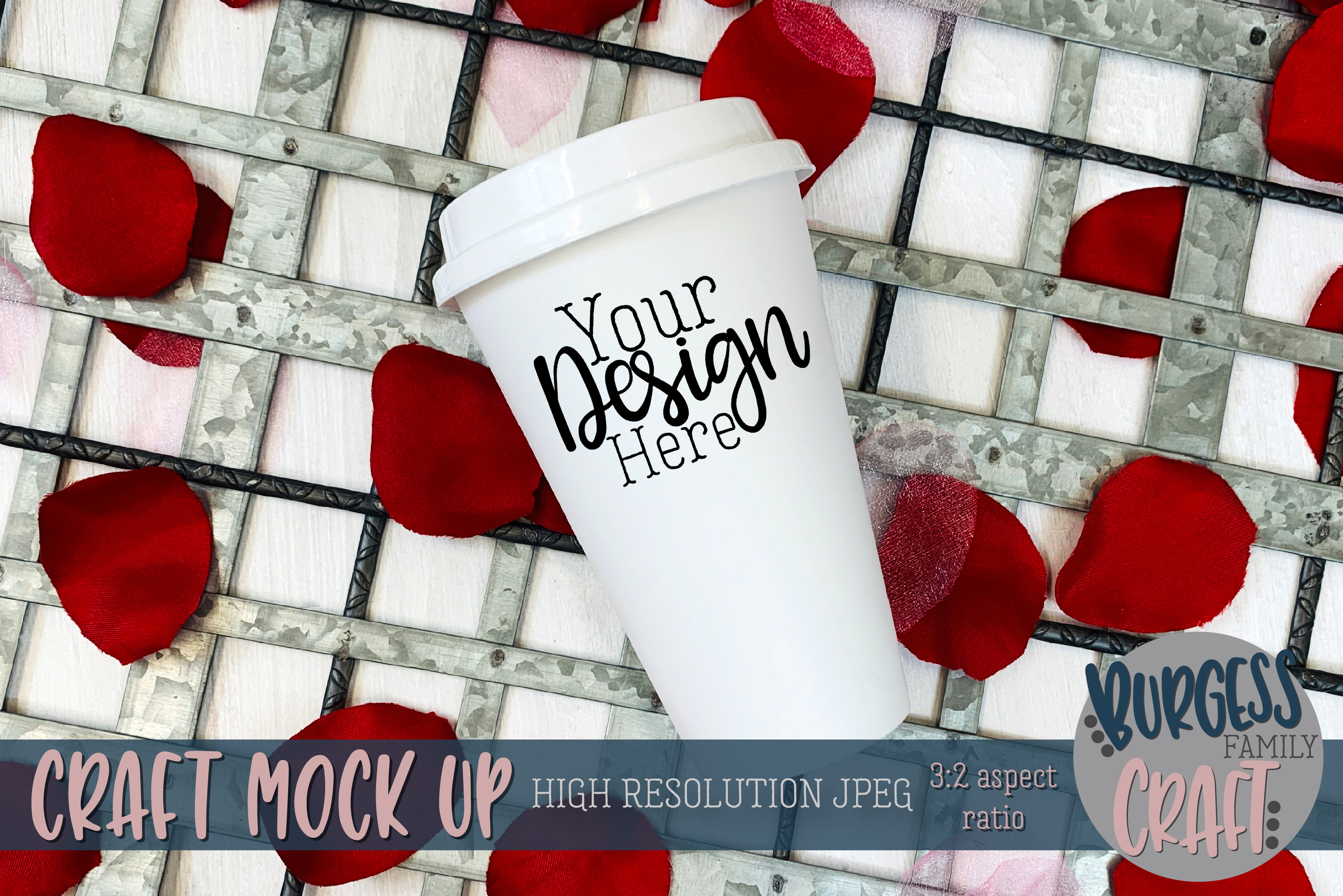 Valentine travel mug Craft mock up example image 1