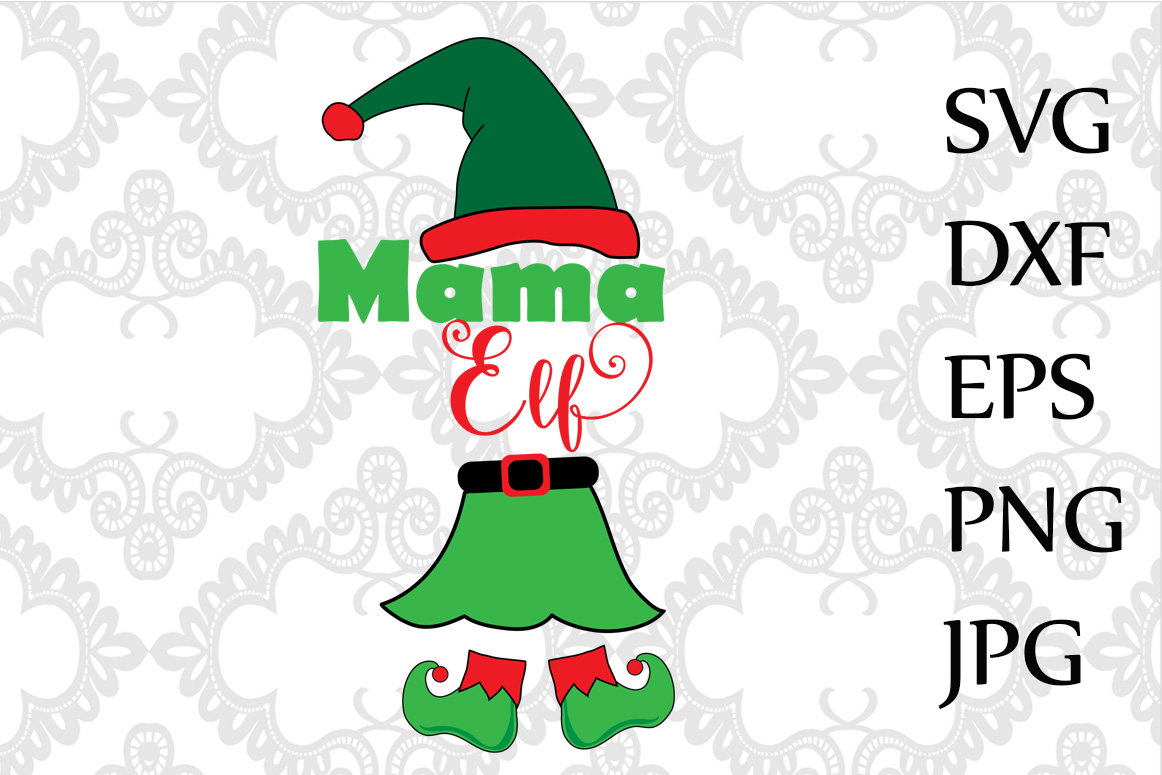 Mama Elf Svg example image 1