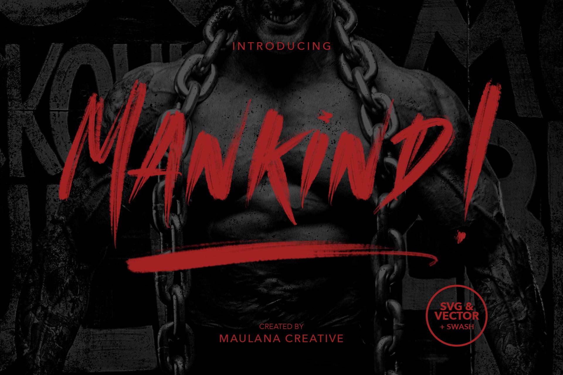 MANKIND - SVG Brush Font example image 1