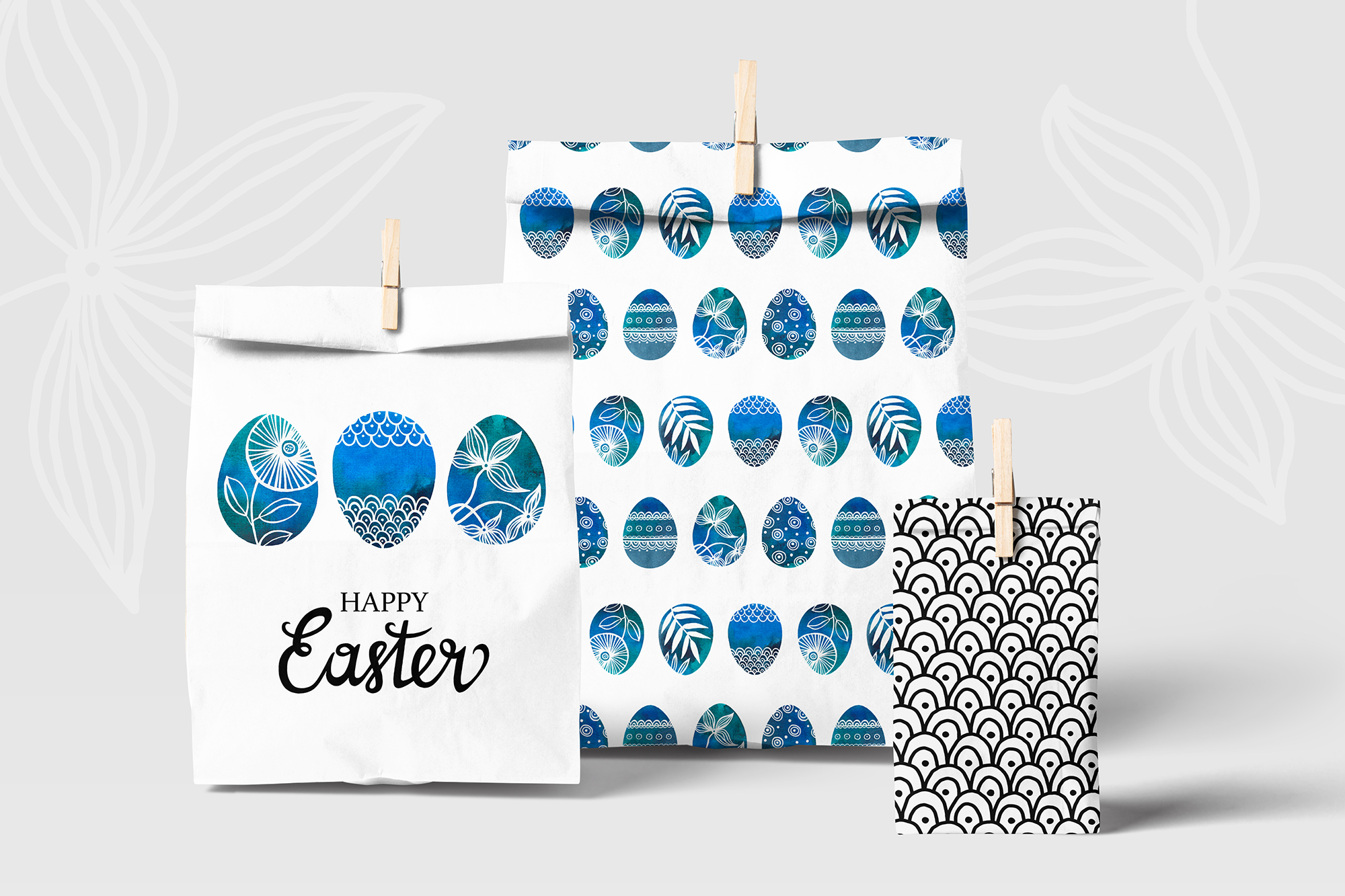 Watercolor Easter eggs, patterns example image 6