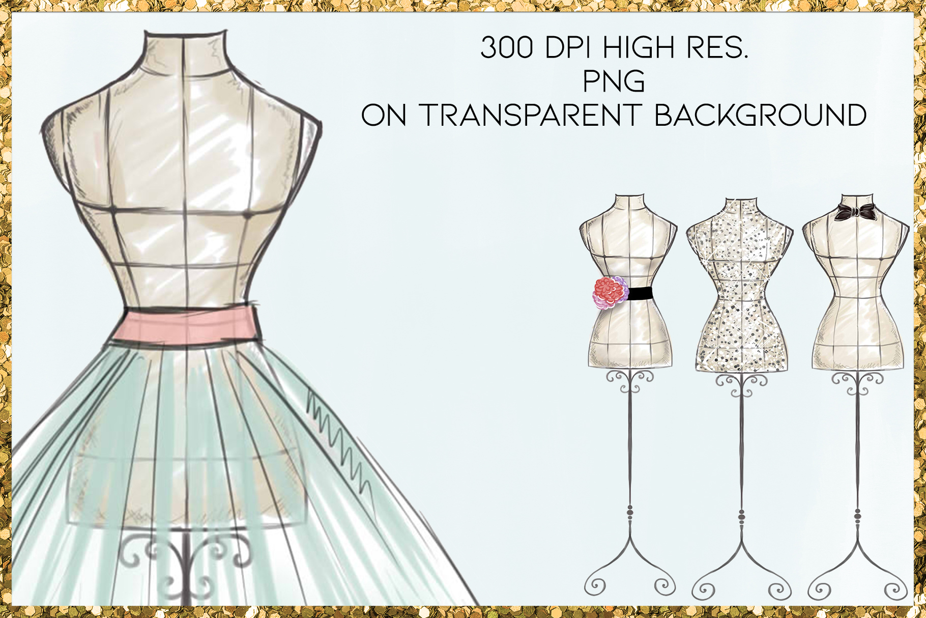 Fashion Png Cliparts - Mannequins - 19 png files on transpar example image 2