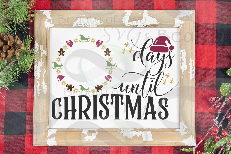 Christmas Farmhouse Countdown svg, Santa Countdown svg, example image 1