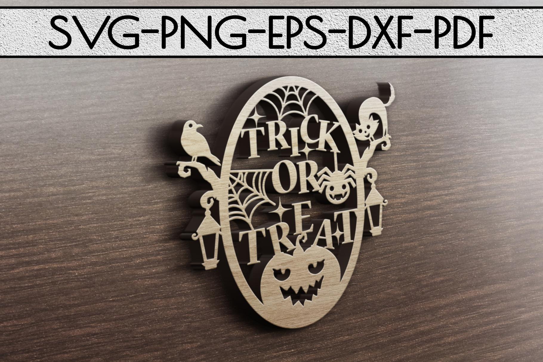 Happy Halloween Papercut Templates Bundle, Spooky, PDF, SVG example image 7