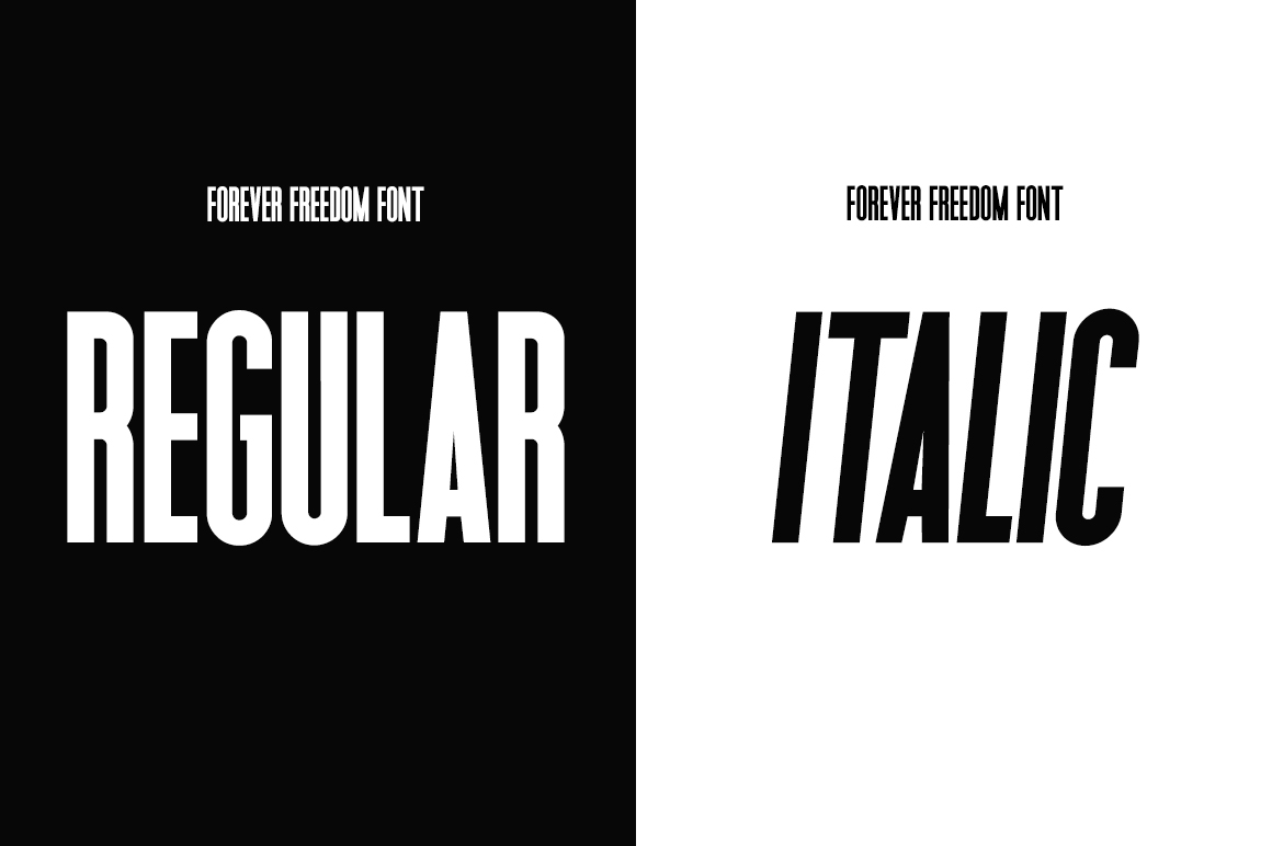 Forever Freedom Font Family example image 3