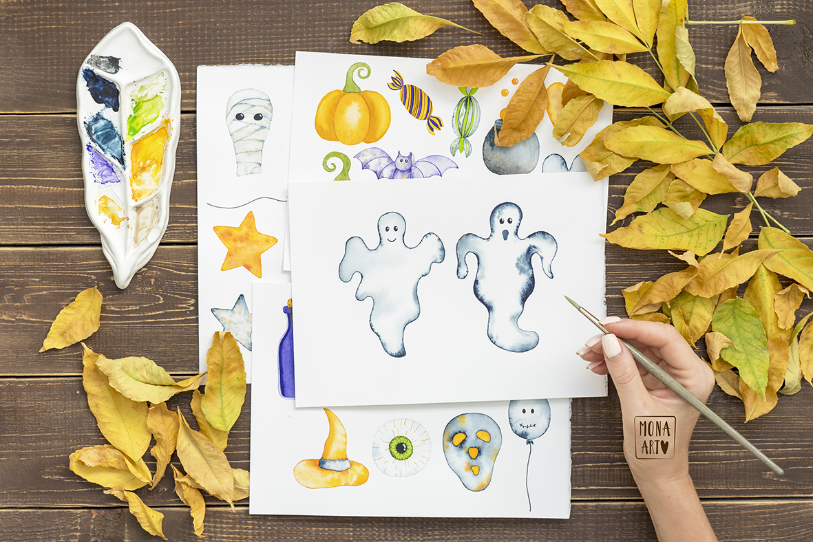 HALLOWEEN WATERCOLOR COLLECTION example image 6