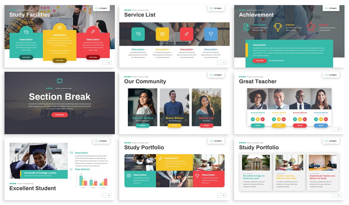 U-Learn - Education Powerpoint Template example image 3