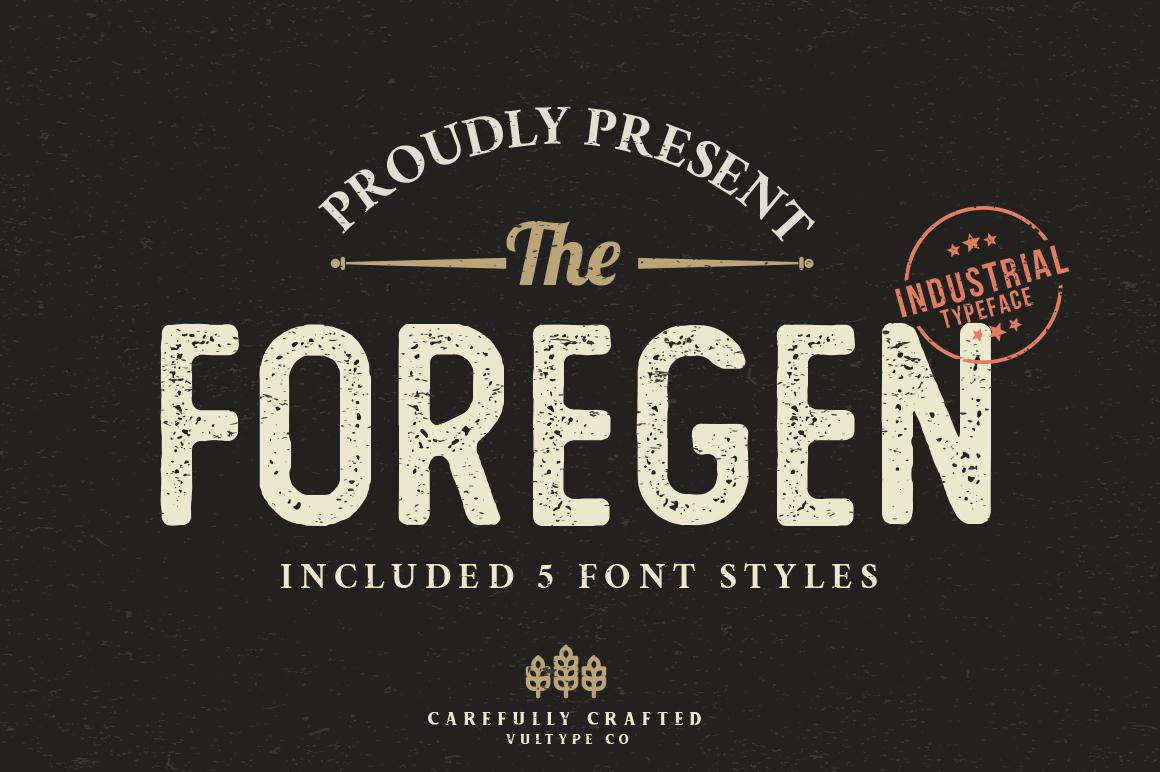 The Foregen - Vintage Sans Serif example image 1
