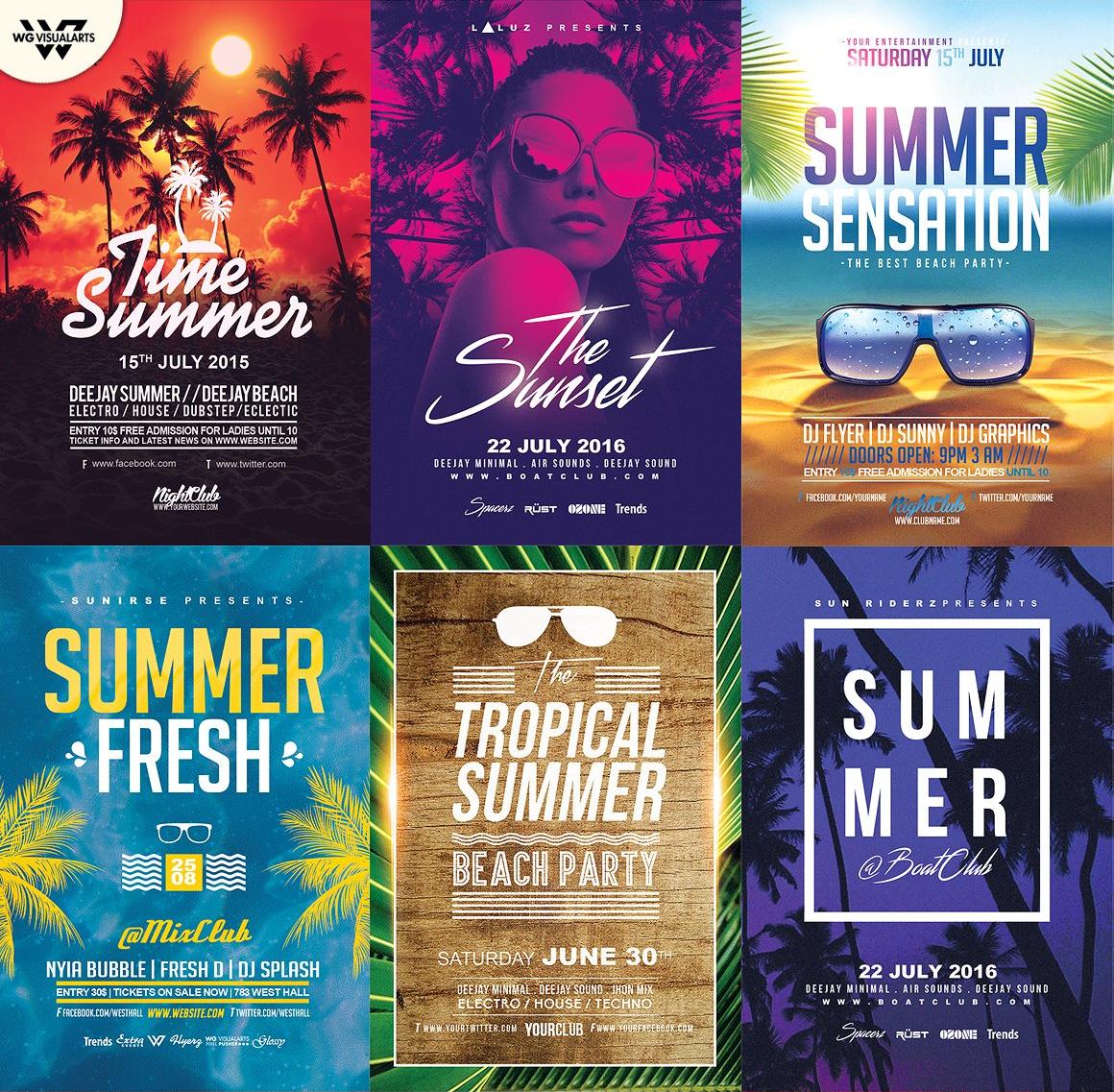 15 SUMMER Flyer Templates Bundle example image 2