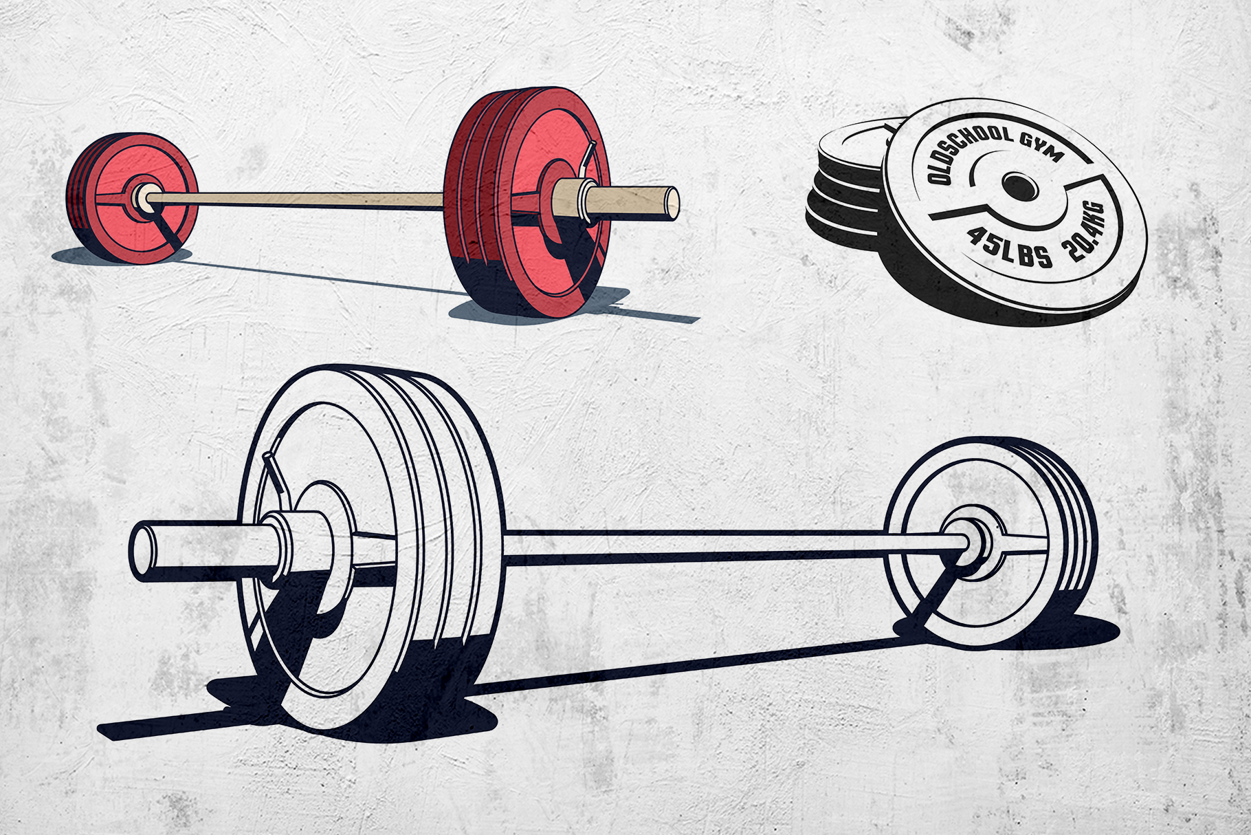 Weight Lifting Retro Pack example image 4