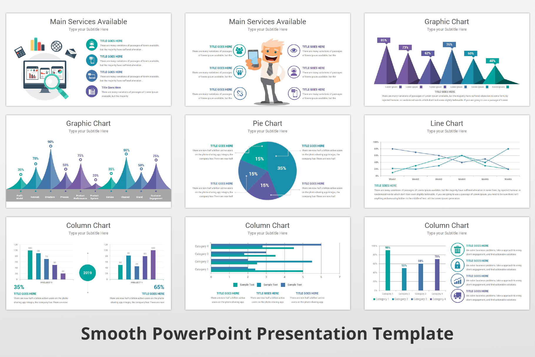 Smooth multipurpose PowerPoint Presentation Template example image 18