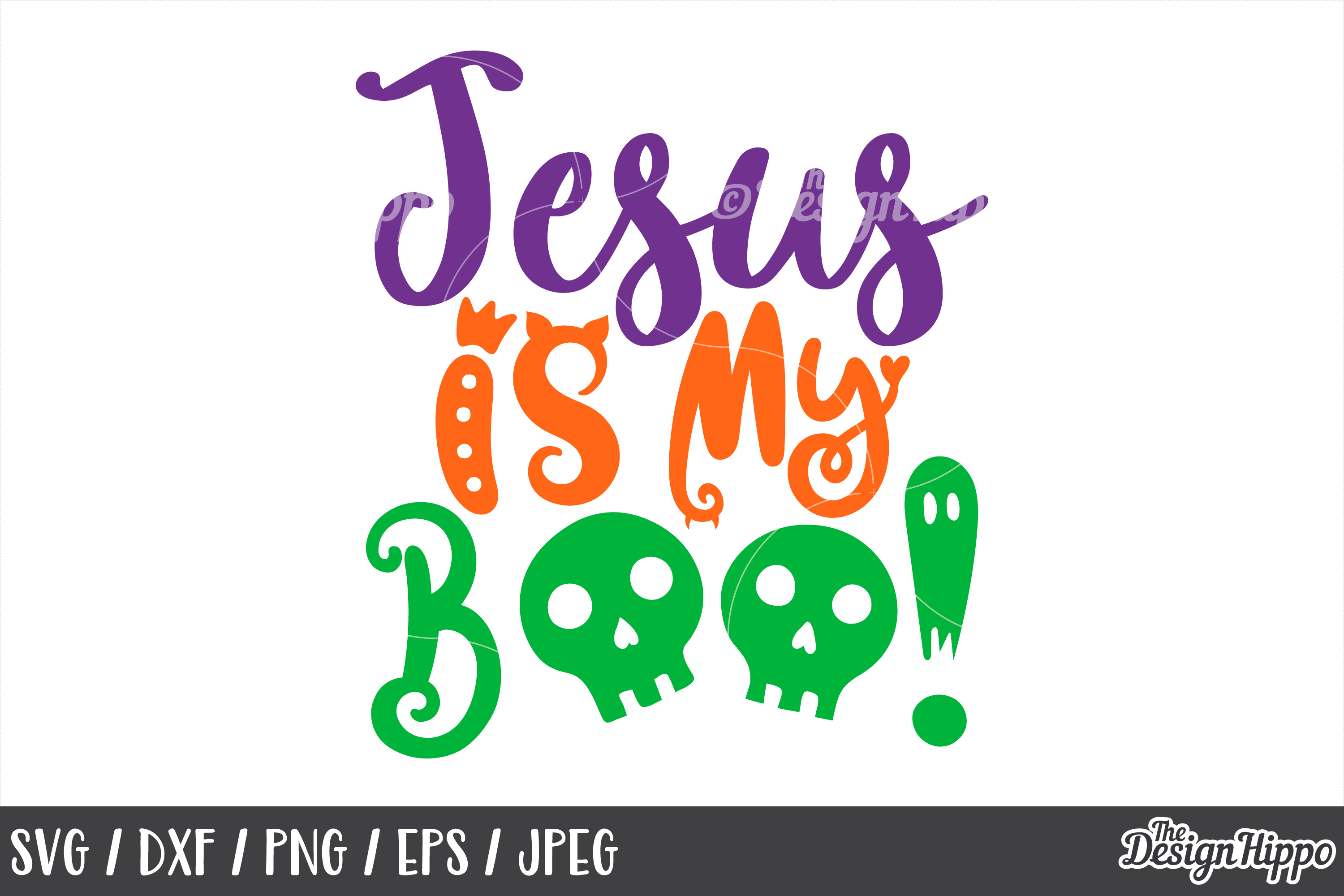 Jesus is my boo, SVG, Boo, Boo yah, Halloween, SVG, PNG, DXF example image 1