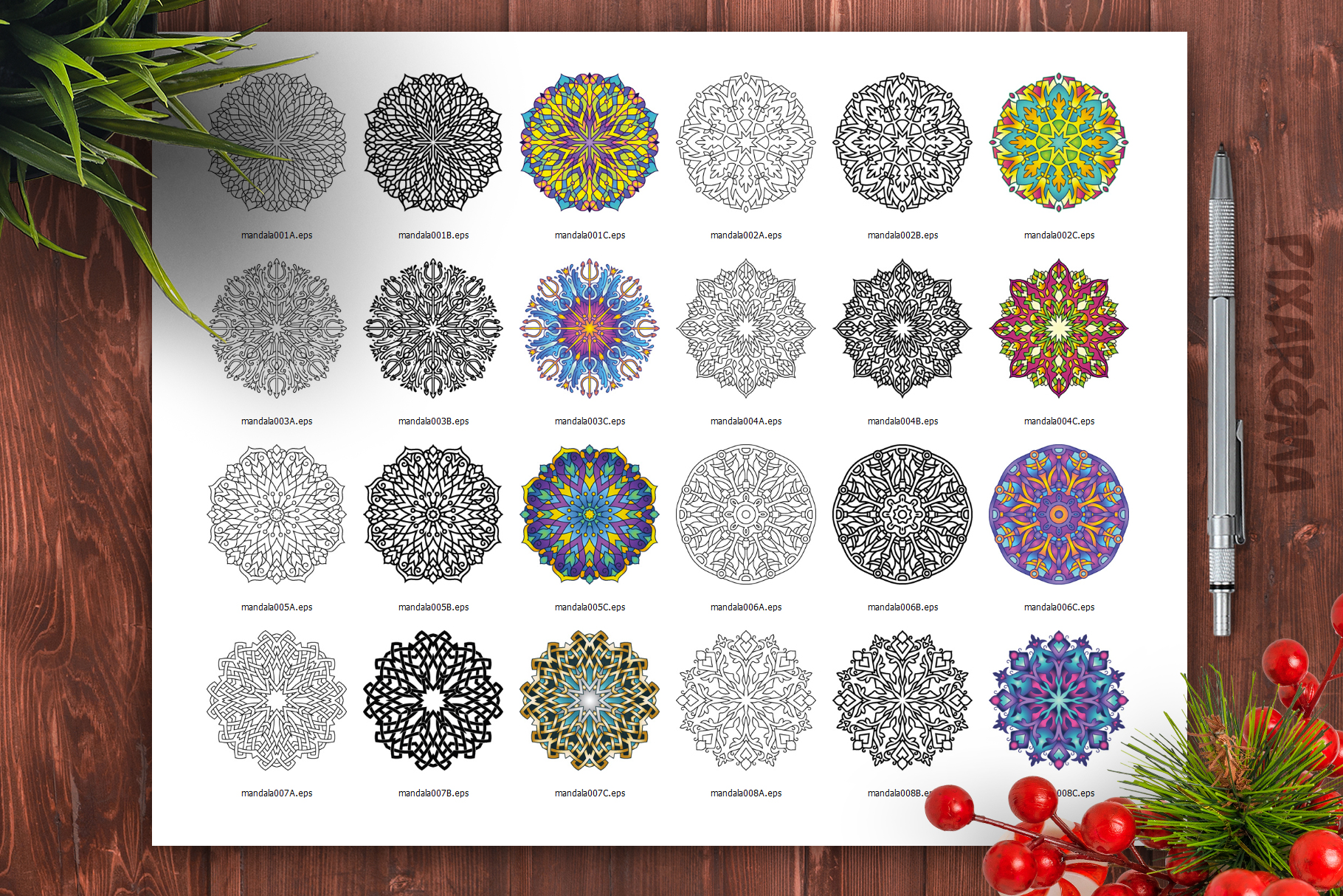 Mandala Vector Ornaments Bundle example image 26