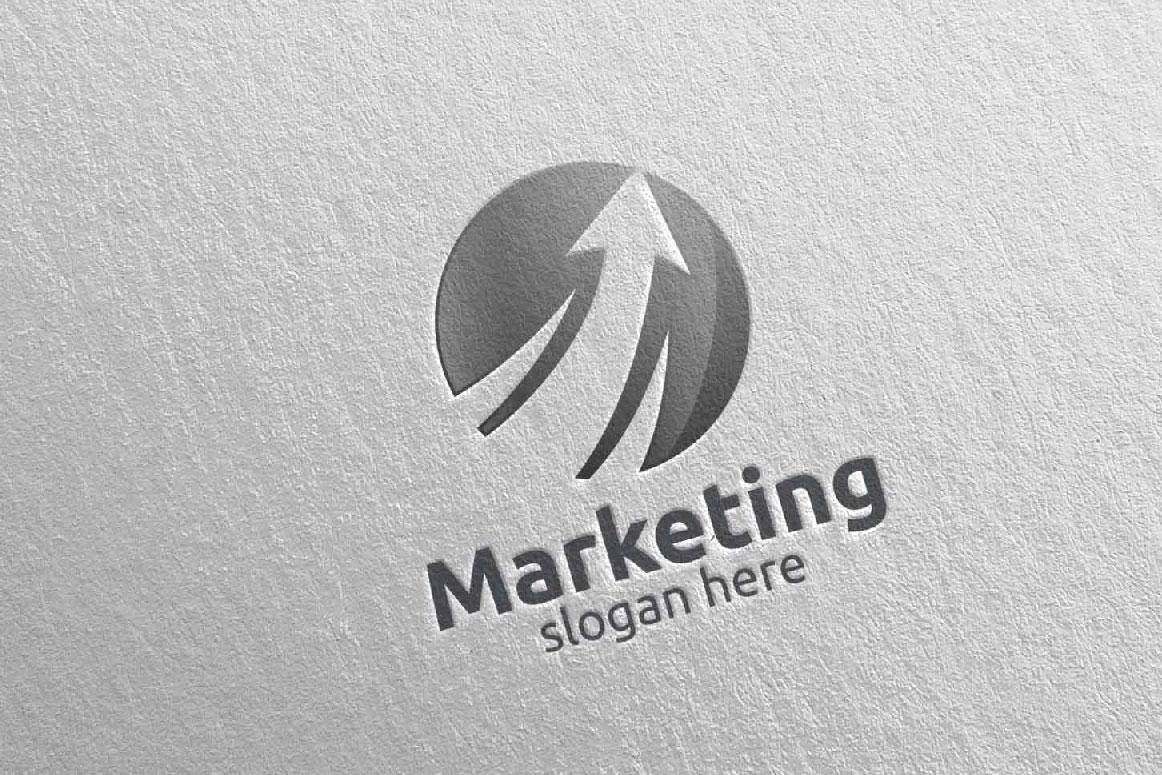 Marketing Financial Advisor Logo Design 27 example image 4