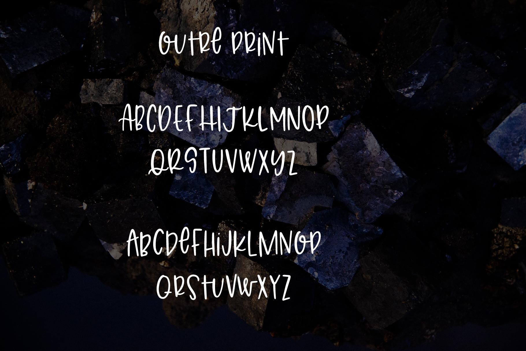 Outre - A 7 Font Set example image 4