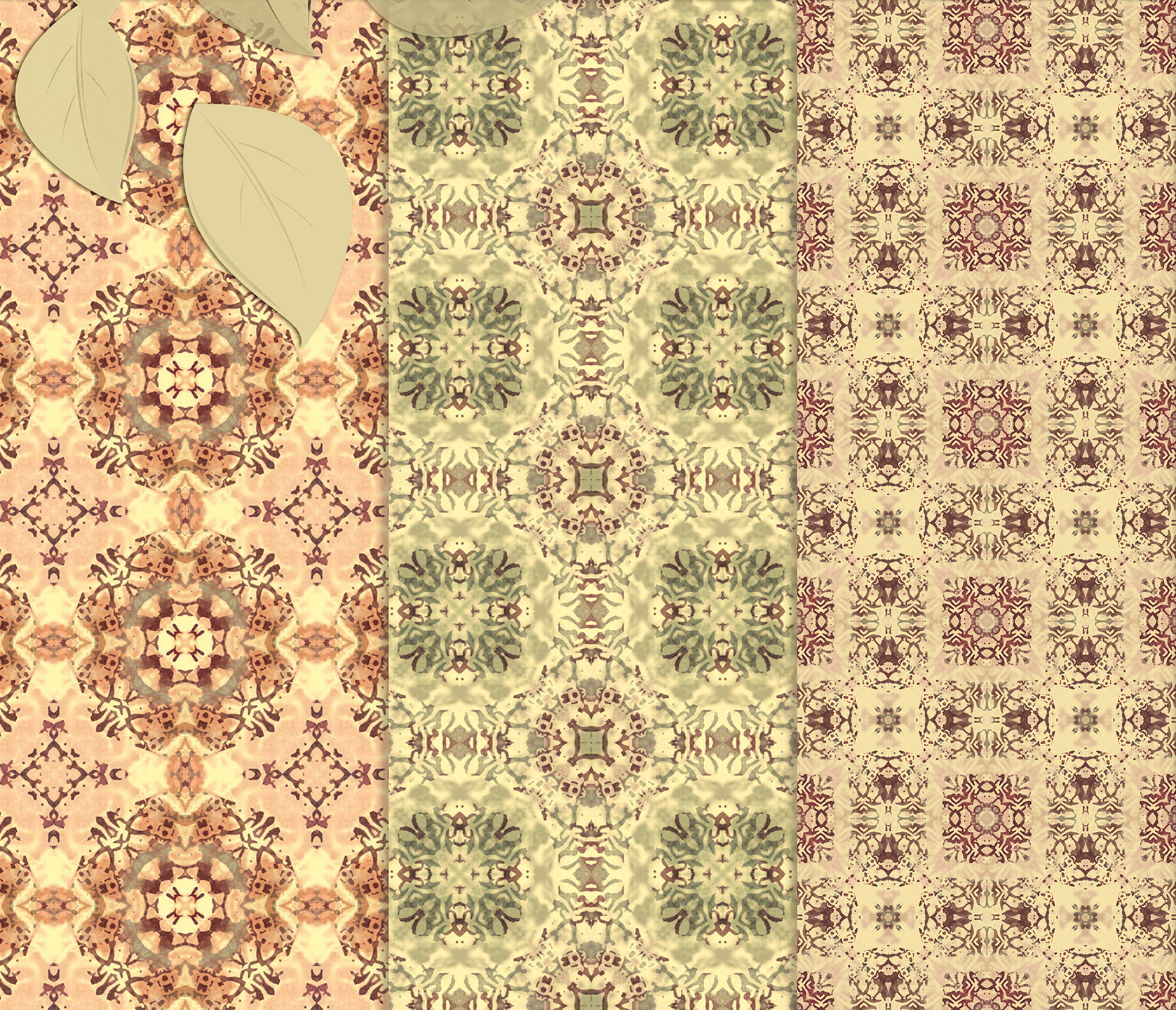 Vintage Abstract Patterns, Digital Scrapbook Paper example image 6