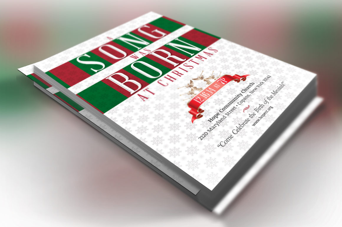 Christmas Musical Flyer Template example image 1