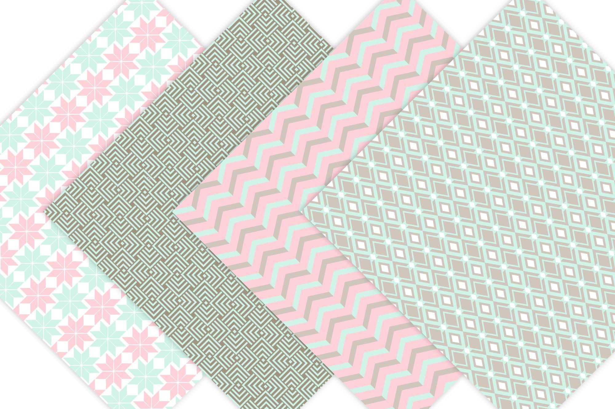 Geometric Digital Paper Patterns example image 5