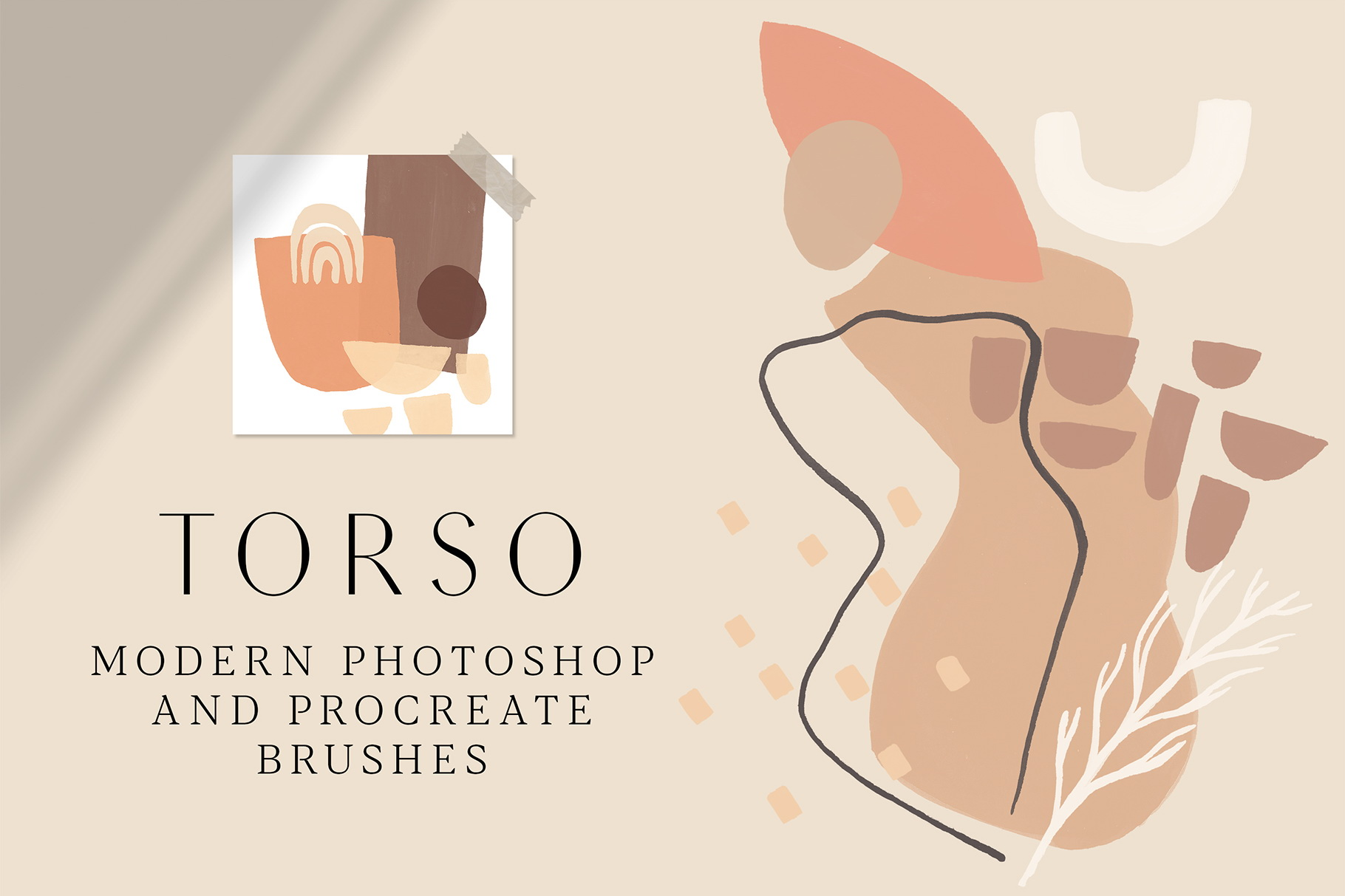 TORSO - Photoshop & Procreate Stamps example image 1