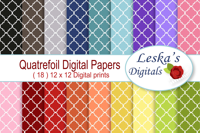 Quatrefoil Digital Paper example image 1