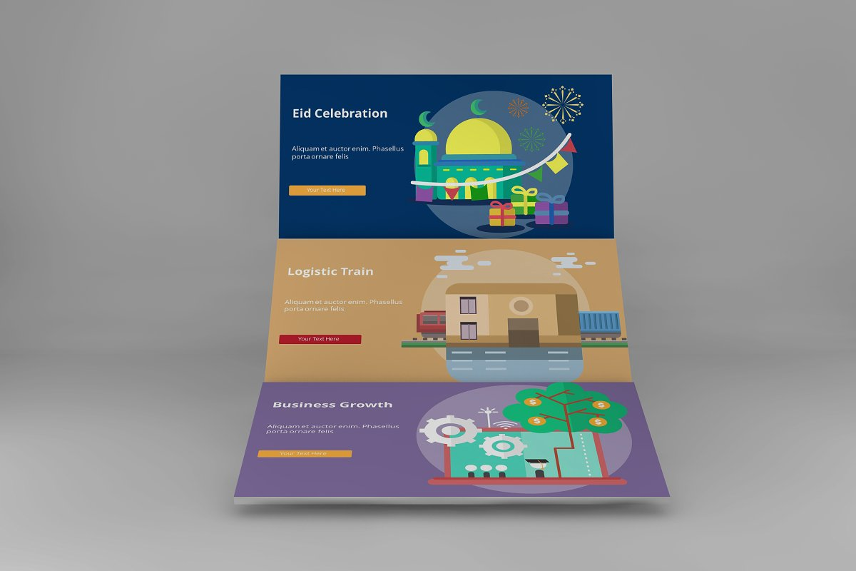 Visual Business Keynote Template example image 5