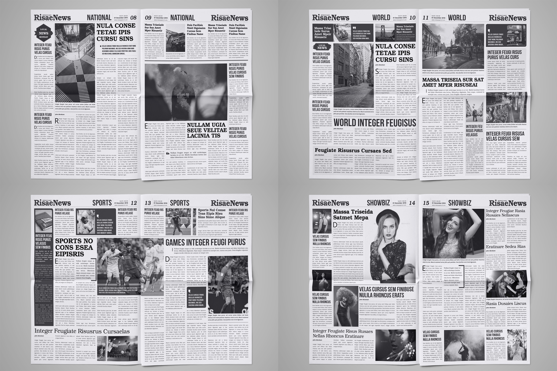Newspaper Design Bundle - 3 in One example image 7