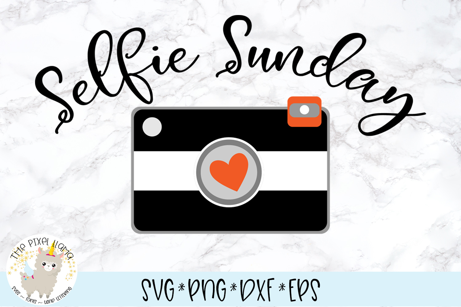 Selfie Sunday Photography SVG Cut File