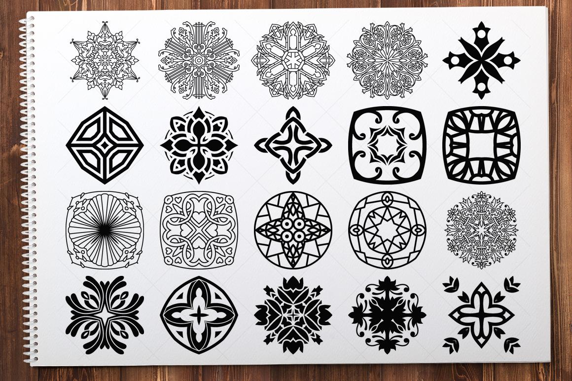 500 Vector Mandala Ornaments example image 12