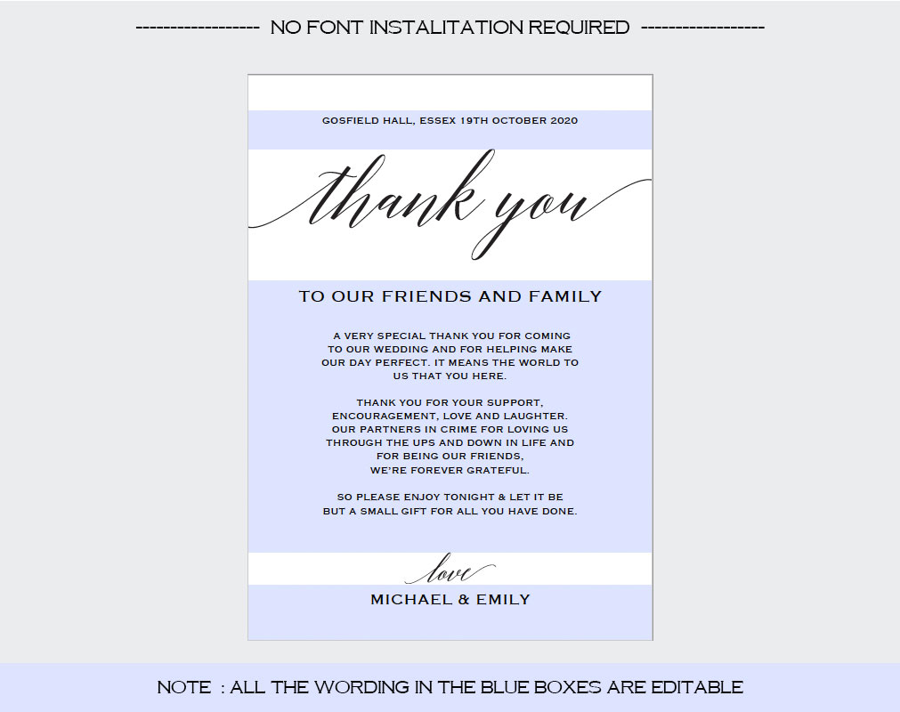 Thank You Card example image 3